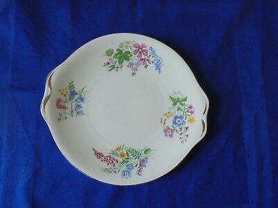Royal Standard ~Country Lane~ Cake/Bread and Butter Serving Plate Spring Flowers