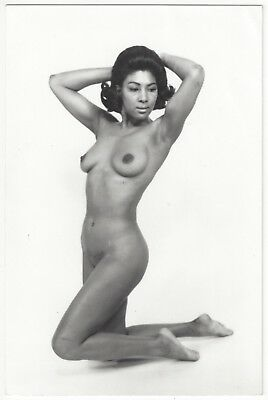 Studio REAL PHOTO Postcard of NUDE Black, African American Woman