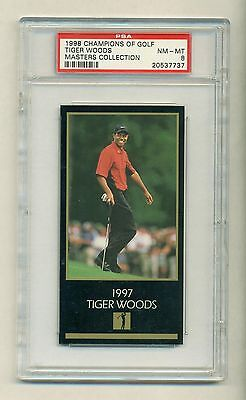 Tiger Woods 1997 1998 Masters Collection Champions of Golf Rookie rC PSA 8 QTY