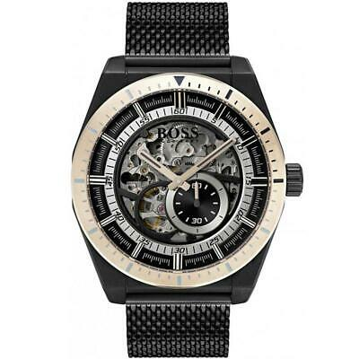 Hugo Boss Black Signature Skeleton Automatic Mens Watch 1513655