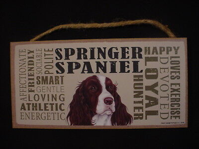 SPRINGER SPANIEL Subway Style DOG SIGN wood WALL HANGING PLAQUE puppy USA MADE