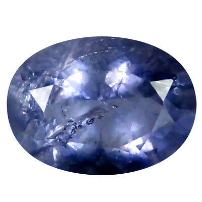 0.98 Ct AAA Miroitantes Forme Ovale (8 X 6 mm) Iolite Naturel Libre