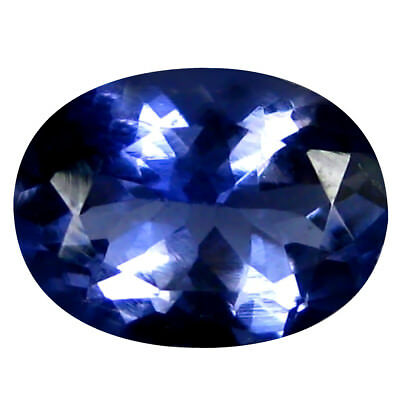 1.26 Ct AAA Grand Style Forme Ovale (9 X 7 mm) Iolite Naturel Libre