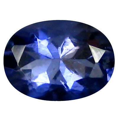 0.43 Ct AAA Clignotantes Forme Ovale (6 X 5 mm) Iolite Naturel Libre