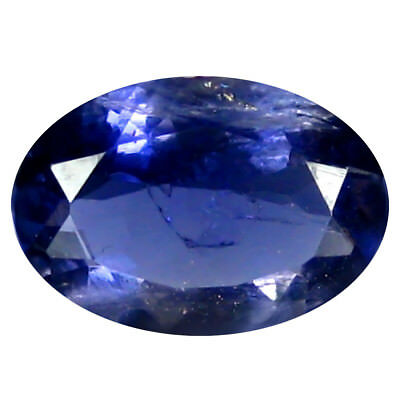 0.96 ct AAA Mesmerizing Oval Shape (9 x 6 mm) Iolite Natural Loose Gemstone