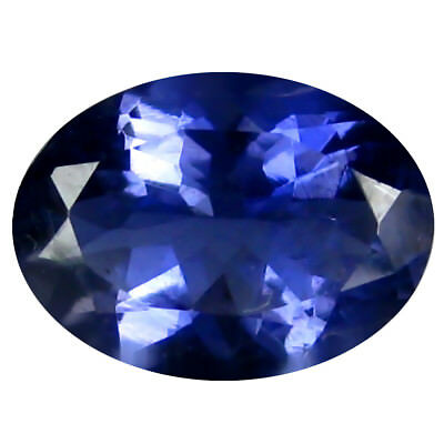 1.48 Ct AAA Incomparable Forme Ovale (9 X 7 mm) Iolite Naturel Libre