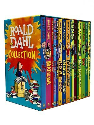 Roald Dahl Complete Collection Matilda Danny the Champion 16 Books Box Set New