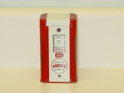 Vintage Motor Oil Can, Sinclair Power X Gasoline Coin Bank
