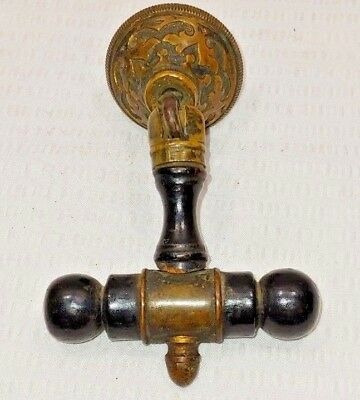 1 Vintage Architecture Furniture Hardware Eastlake Brass Wood Drawer Pull