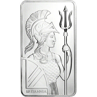 10 oz. Silver Bar - Royal Mint Britannia - .999 Fine in Mint Sealed Plastic