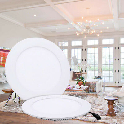Dimmable Recessed LED Panel Ceiling DownLights Round Slim Light Cool/Warm White