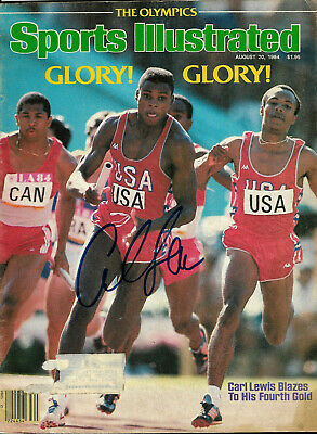 Carl Lewis Hand Signed Autographed Sports Illustrated Glory Magazine With Coa