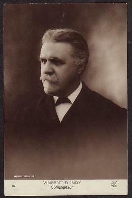 REAL PHOTO POSTCARD VINCENT D'INDY FRENCH COMPOSER AND TEACHER c1910