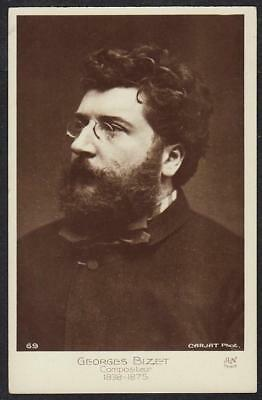 REAL PHOTO POSTCARD GEORGES BIZET FRENCH OPERA COMPOSER c1910
