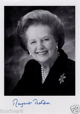 MARGARET THATCHER Signed Photograph Politician / British Prime Minister preprint