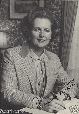 MARGARET THATCHER Signed Photograph - former British Prime Minister - preprint