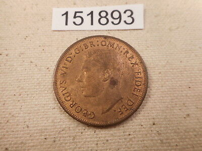 1951 Great Britain One Penny Red/Brown - Collector Grade Album Coin - # 151893