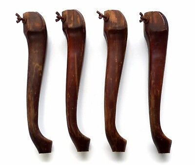 4 Vintage Wood Legs, Queen Anne Style, Salvaged, 16 ¼""