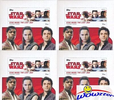 (4) 2017 Topps Star Wars: The Last Jedi MASSIVE Sealed 24 Pack Retail Boxes