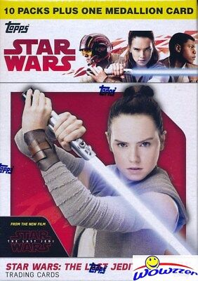(5)2017 Topps Star Wars: The Last Jedi EXCLUSIVE Blaster Box-5 SPECIAL MEDALLION