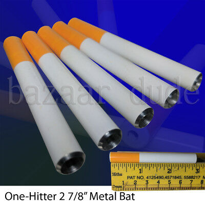 5X Metal Bat Cigarette Style Pipe | 2 7/8 Inch | One Hitter Dugout | US SELLER
