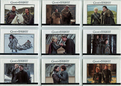 Game of Thrones Season 7 Relationships Complete 10 Card Chase Set DL41 to DL50