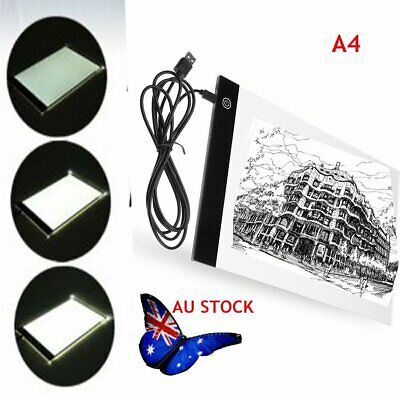 USB LED Artist Slim A4 Artist Stencil Board Light Tracing Drawing Pad Table Box