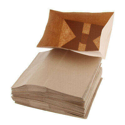 Oilproof Kraft Paper Food Packing Takeout Bags, Natural Color