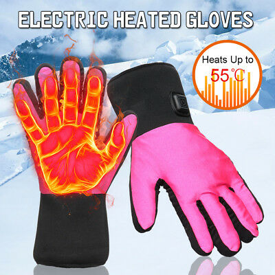 Winter Electric Heated Gloves Hands Warmer 3 Levels Control Outdoor Hiking Ski
