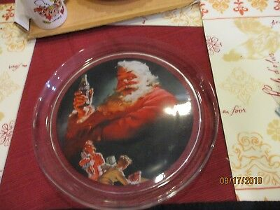 "1993 Coca Cola Company Plate Tray SANTA 13"" VERY heavy Excellent condition"