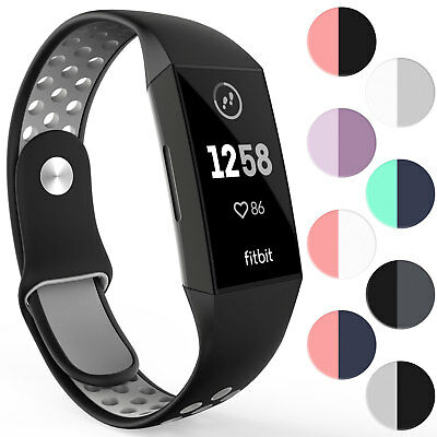 Fitbit Charge 3 Strap Best Replacement Silicone Watch Wrist Band For Men & Women