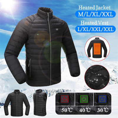 f55468a0f MEN'S ELECTRIC BATTERY Heated Hoodie Jacket Coats Winter Adjustable ...
