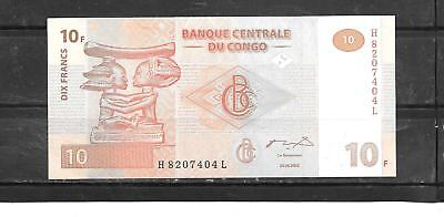 CONGO #93a 2003 10 FRANC MINT CRISP  NEW BANKNOTE NOTE BILL CURRENCY MONEY