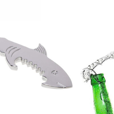 Kitchen Gadget Zinc Alloy Ring Shark Shaped Key Chain Beer Can Bottle Opener