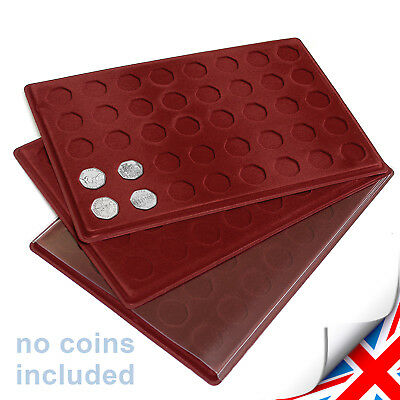 SCHULZ - Red COIN TRAY for 50p  - 40 Compartments for Your 50 Pence Collection