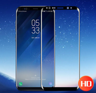 For Samsung Galaxy S9 S8 Plus Note8 9 Full Cover Tempered Glass Screen Protector
