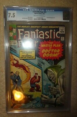Marvel Comics Fantastic four CGC 23 7.5 Dr Doom silver age