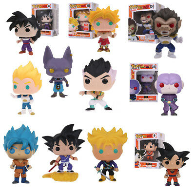 Pop! Dragon Ball Z: Goku Beerus Super Saiyan Vegeta Vinilo Acción Figura Juguete