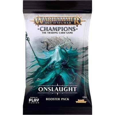WARHAMMER AOS: CHAMPIONS * Onslaught Booster Pack*PRE-ORDER*