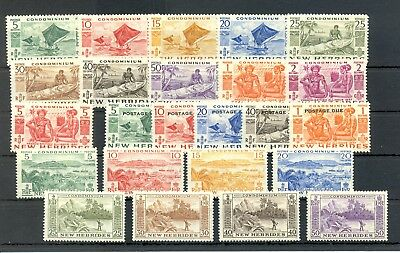 New Hebrides--24 Stamps --* Mh -- Vf