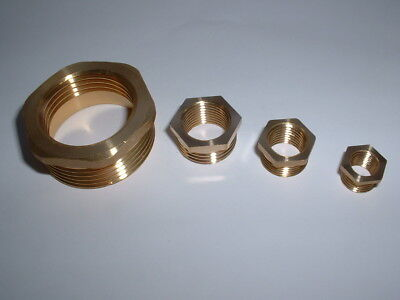 Solid Brass Bspp Male To Bspp Female Hex Reducer Adapter Reducing Bush All Sizes