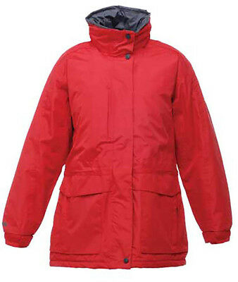 Regatta Darby II Womens Jacket Thermal Outdoor Coat Red 3XL Size 20