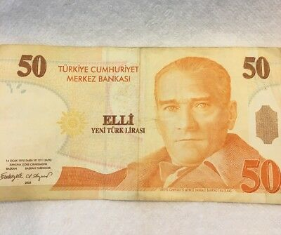* 50 Turkish Lira Banknote (8th Emmidion Group 2005) Paper Money