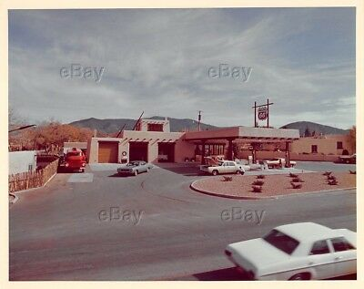 VINTAGE PHOTOGRAPH PHILLIPS 66 GAS STATION FILLING SERVICE OIL 1960s WESTERN OLD