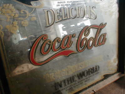 VINTAGE Delicious Coca~Cola Most Refreshing Drink Mirror COKE SIGN 1978 10 x 13