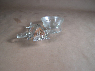 2  Old Glass Containers Military Hat & WWII Airplane P-51