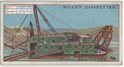 Gold Placer Mining Dredge Floating Barge  90+ Y/O Trade Ad Card