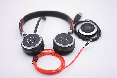 JABRA EVOLVE HSC017 ENC010   Stereo Wired Headset w/ Microphone