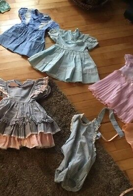 Vintage Baby/Toddler Girl Dresses 2-3T 1950's -60's Lot Of 10