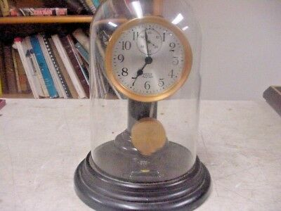 Poole 1930's Self Winding Battery Clock with Glass dome super Nice